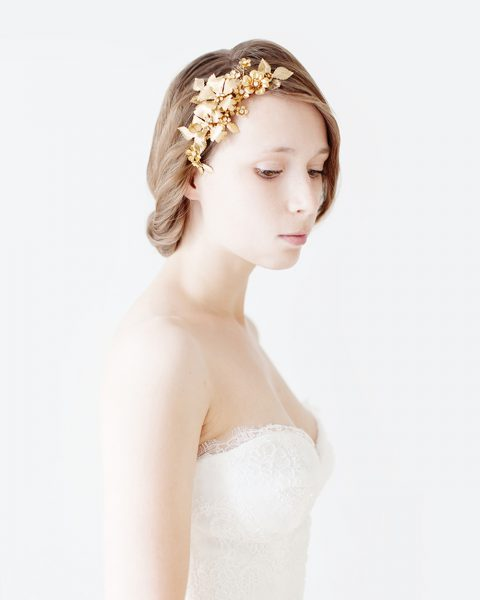 Style 514 - Nature inspired flower bridal headpiece - © SIBO Designs Bridal Adornments & Veils