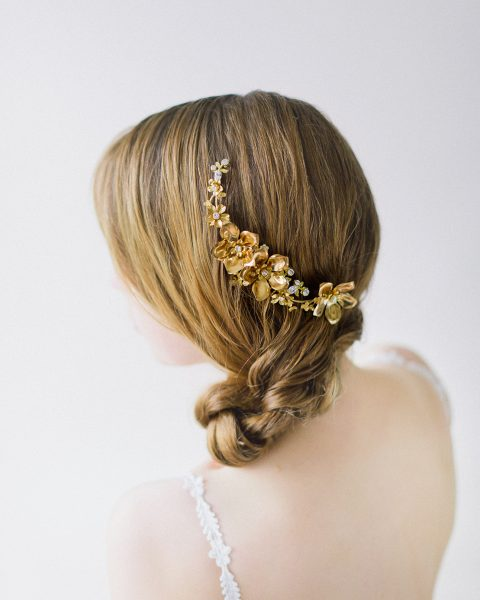 Style 603 - Floral Bridal Hair Comb - © SIBO Designs Bridal Adornments & Veils