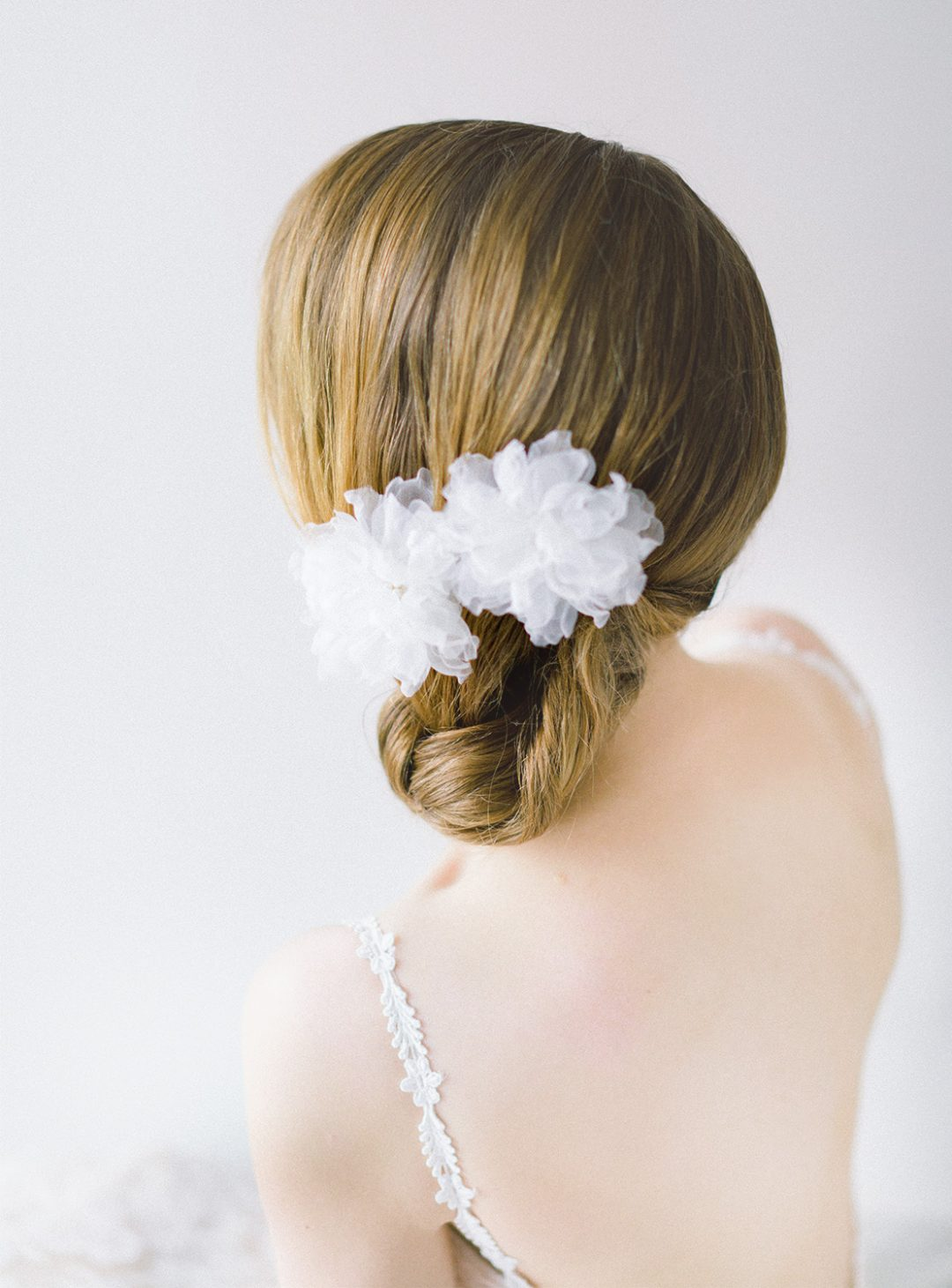 Style 609 - Silk Flower Hair Pins - © SIBO Designs Bridal Adornments & Veils