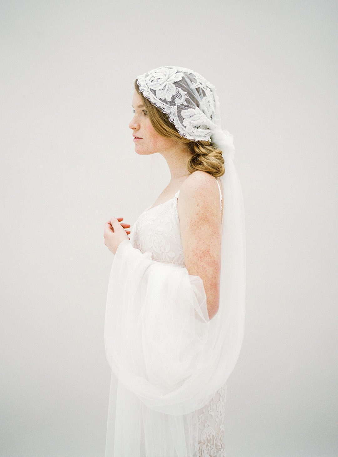 Style 618 - Beaded Juliet Cap Veil - © SIBO Designs Bridal Adornments & Veils