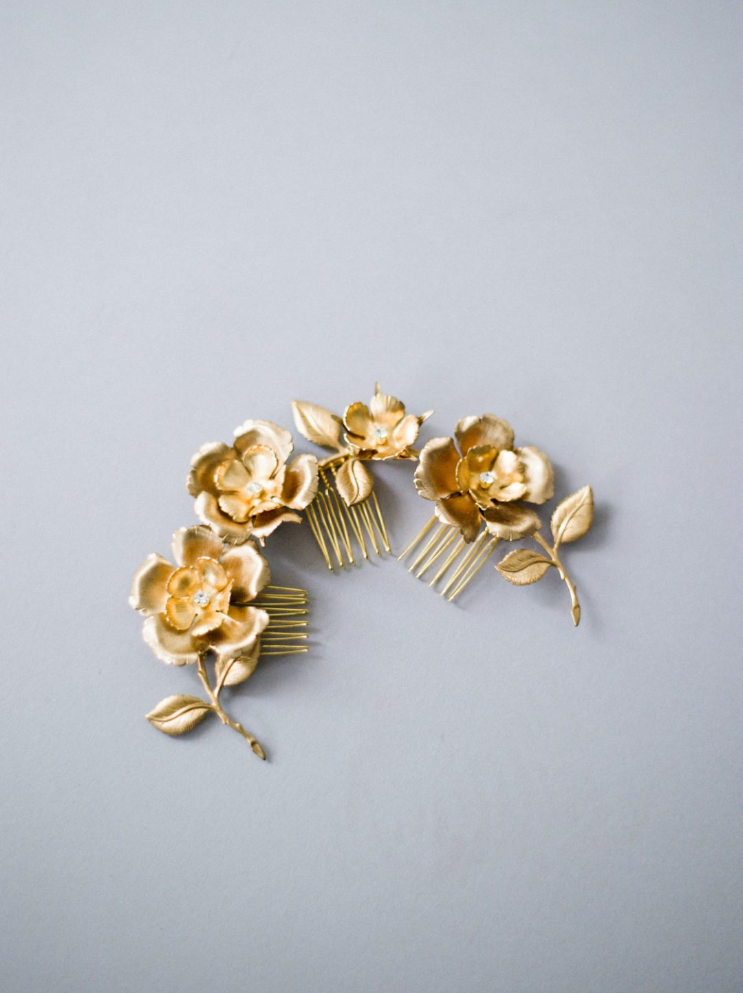 "SIBO Designs 2018 Collection - ""Style 702"" Floral Bridal Hair Comb Set www.sibodesigns.com"