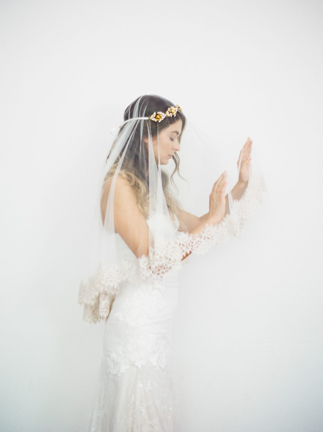 """SIBO Designs 2018 Collection - """"Style 707"""" Couture Bridal Headband www.sibodesigns.com"""