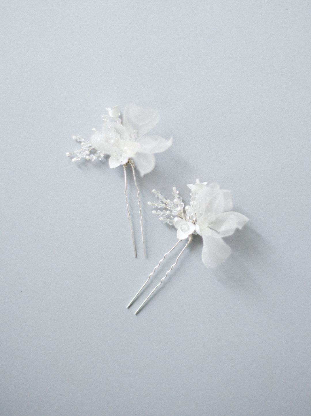 "SIBO Designs 2018 Collection - ""Style 709"" Silk Flower Crystal Bridal Hair Pins www.sibodesigns.com"