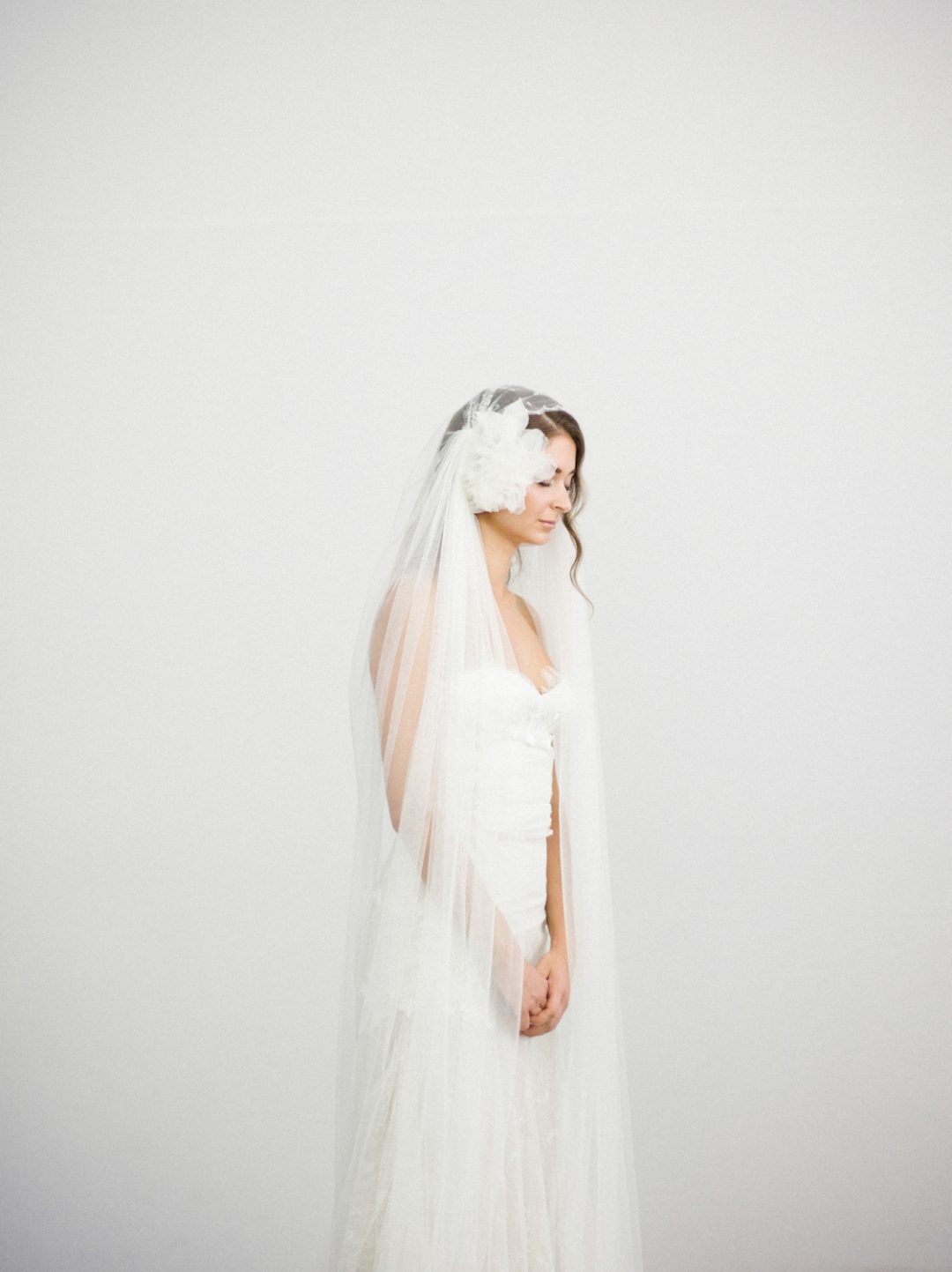 """SIBO Designs 2018 Collection - """"Style 712"""" Cathedral Juliet Cap Bridal Veil www.sibodesigns.com"""