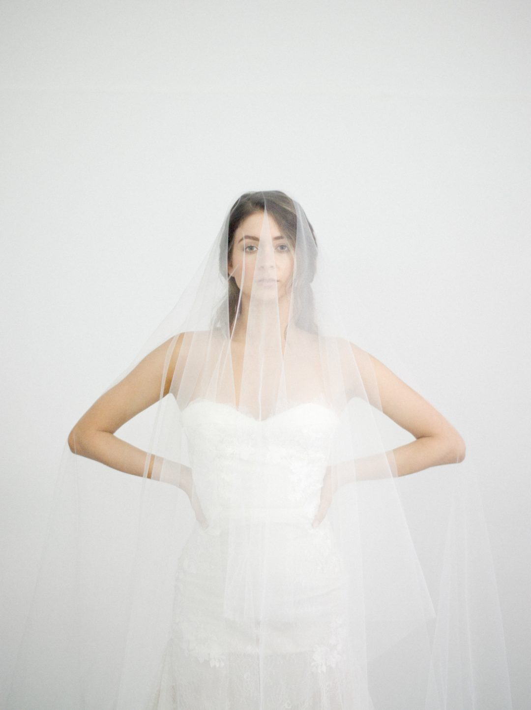 """SIBO Designs 2018 Collection - """"Style 717"""" Cathedral Tulle Blusher Bridal Veil www.sibodesigns.com"""