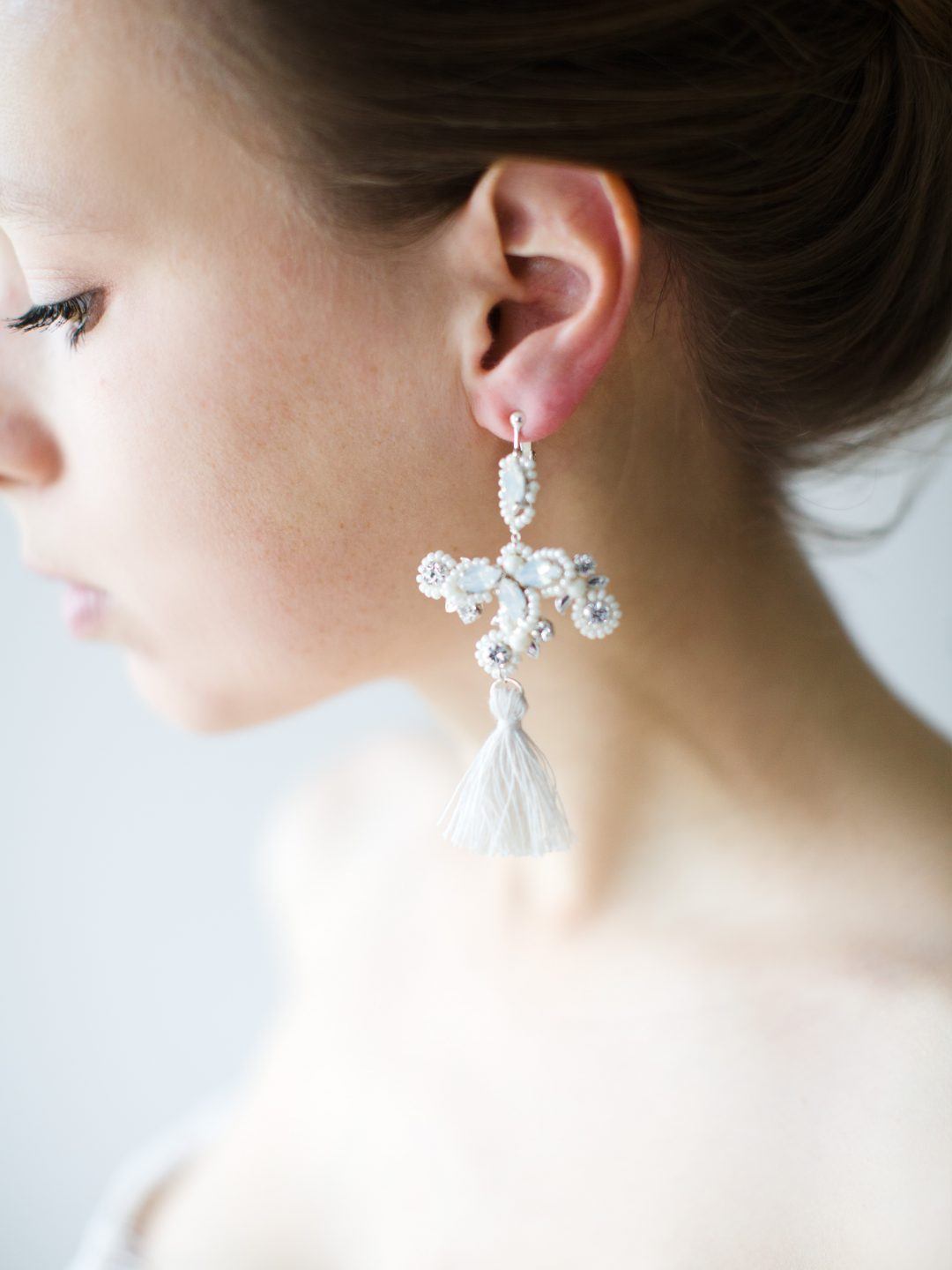"""SIBO Designs 2018 Collection - """"Style 721"""" Opal Bridal Earrings www.sibodesigns.com"""