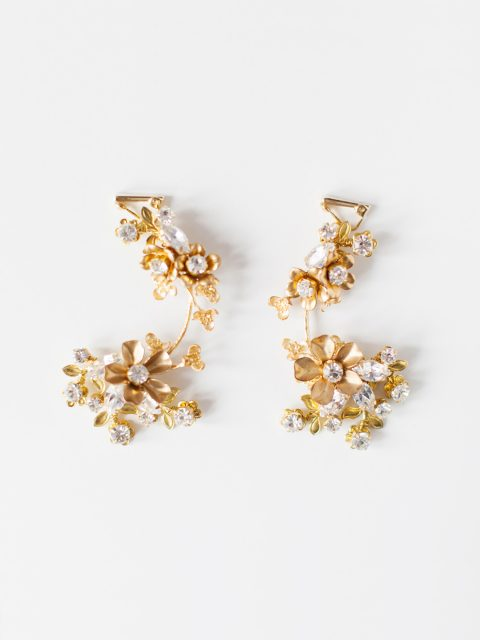 "SIBO Designs 2018 Collection - ""Style 724"" Crystal Floral Bridal Earrings www.sibodesigns.com"