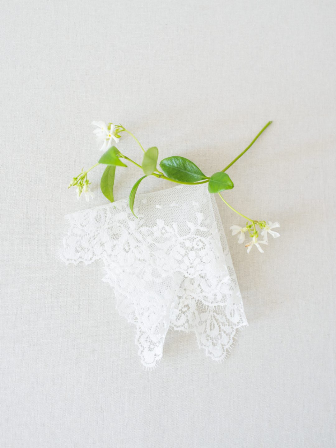 Dotted Lace Wedding Handkerchief - © SIBO Designs Bridal Couture - www.sibodesigns.com