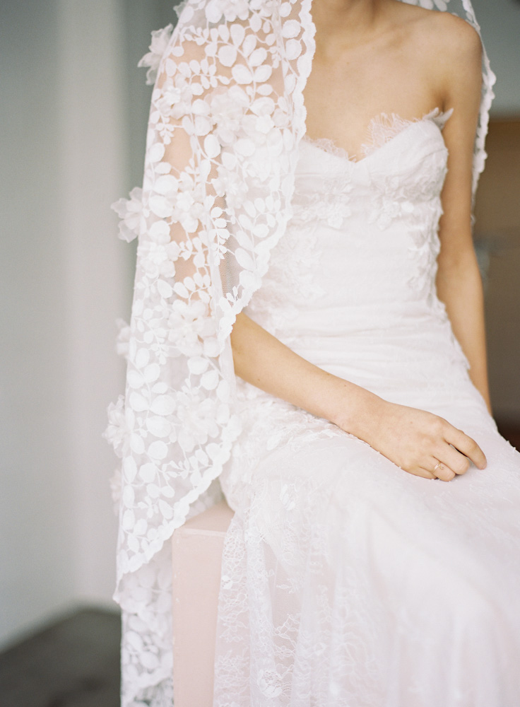 "SIBO Designs - ""Style 728"" Couture Floral Mantilla Bridal Veil www.sibodesigns.com"