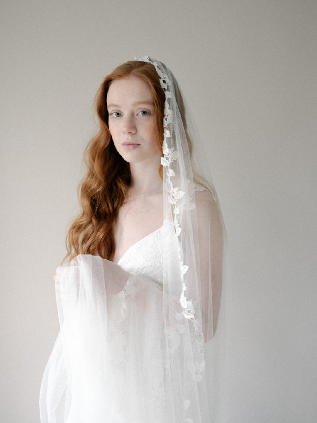 Style 801 - LACE MANTILLA BRIDAL VEIL by SIBO Designs Couture www.sibodesigns.com