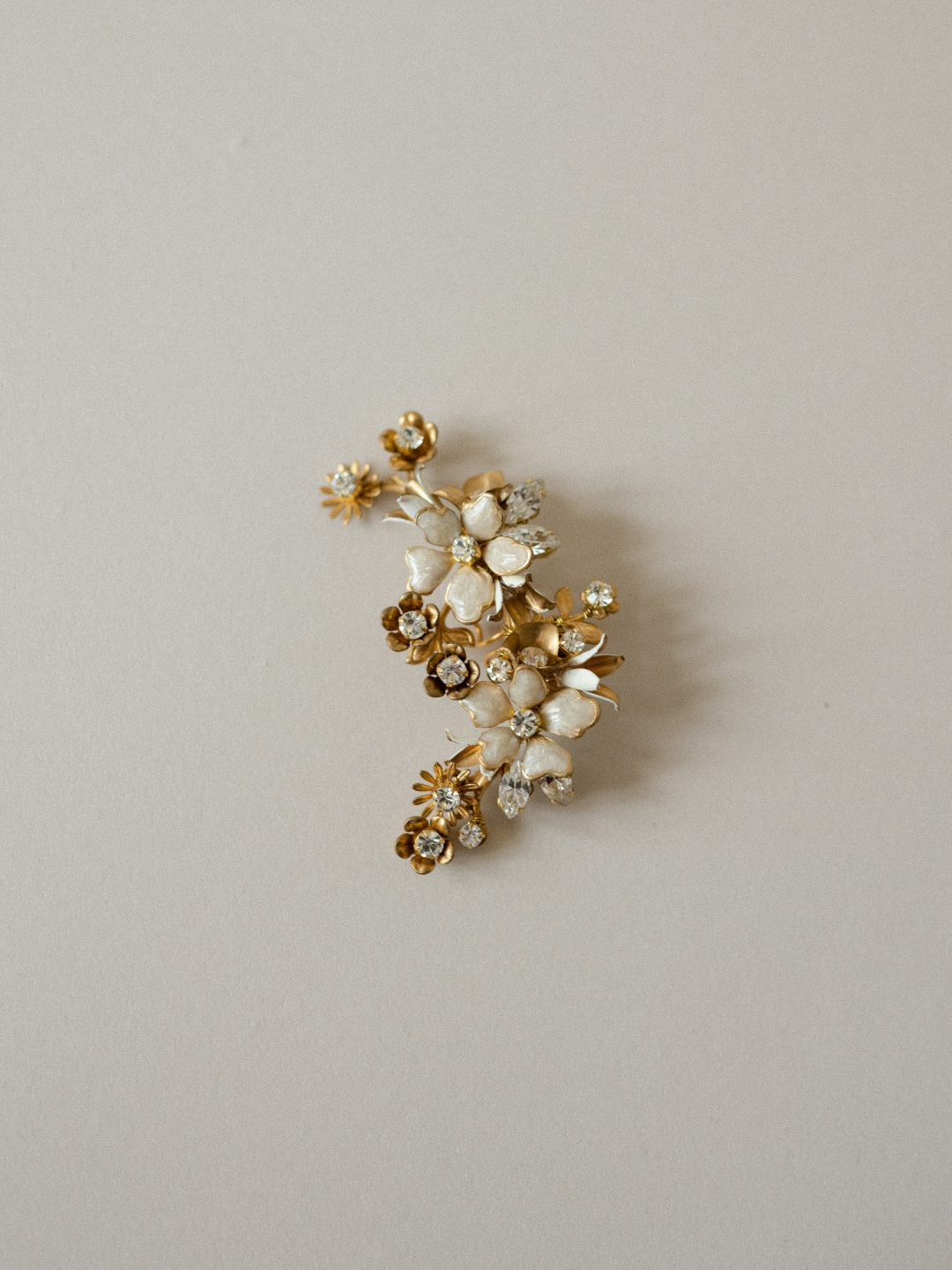 Style 809 - FLORAL BRIDAL EAR CUFF by SIBO Designs Couture www.sibodesigns.com
