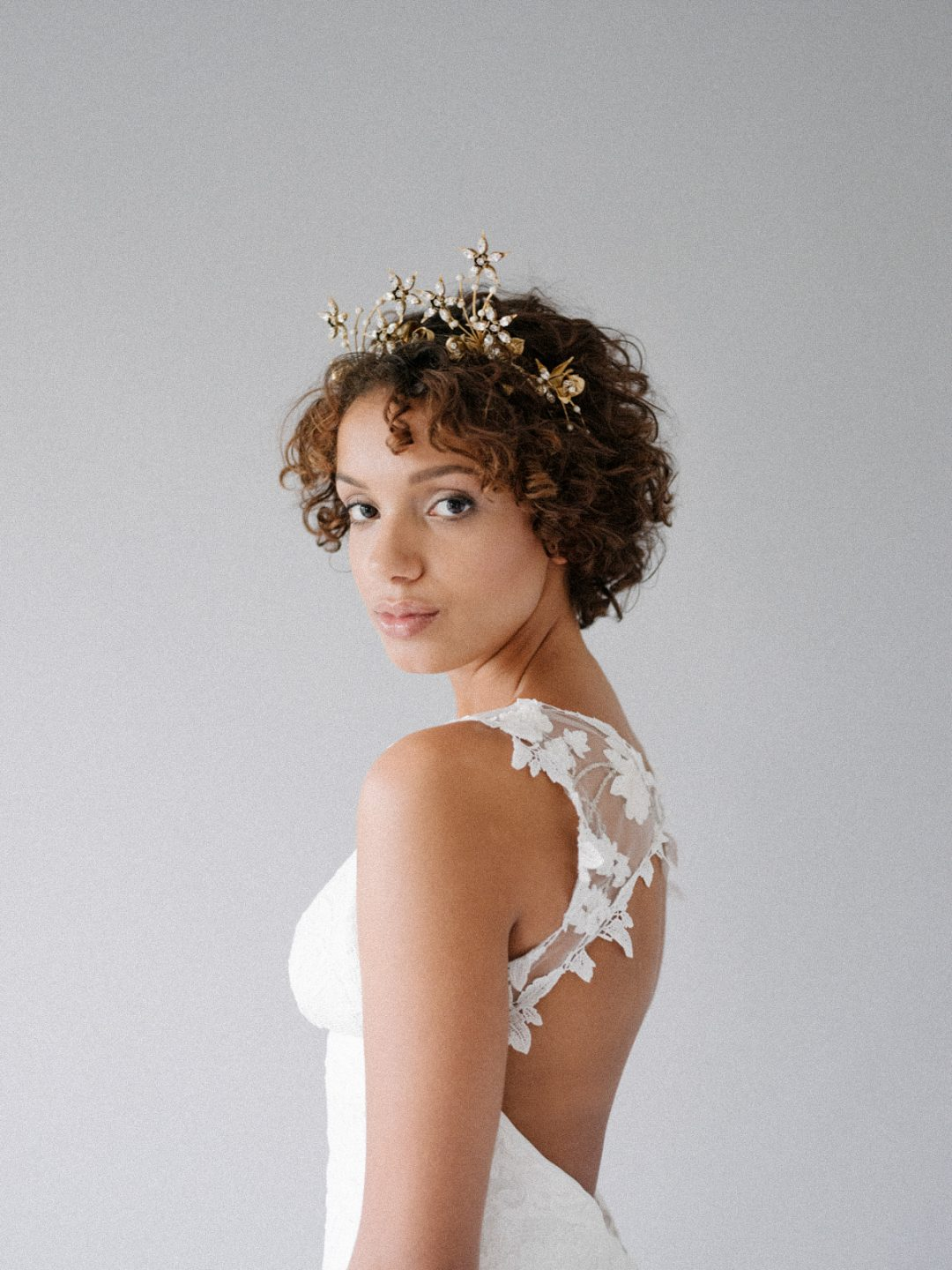 Celestial Bridal Crown - Style 822 - SIBO Designs www.sibodesigns.com