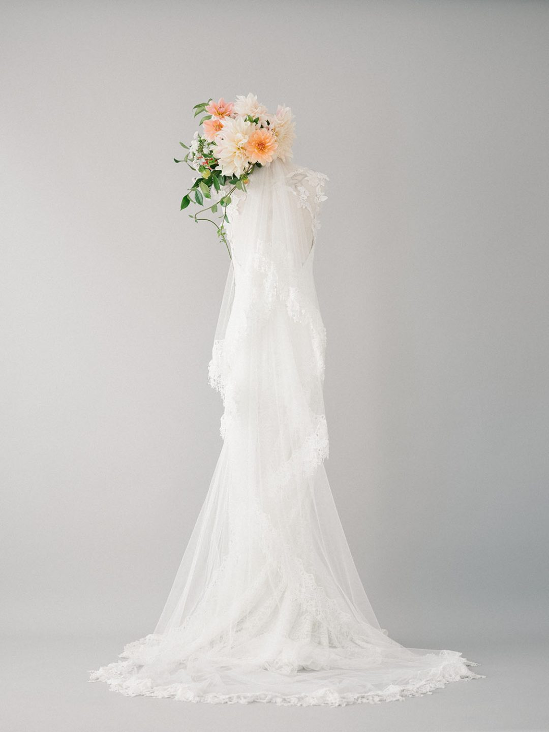 Lace Tassel Bridal Veil - Style 823 - SIBO Designs www.sibodesigns.com
