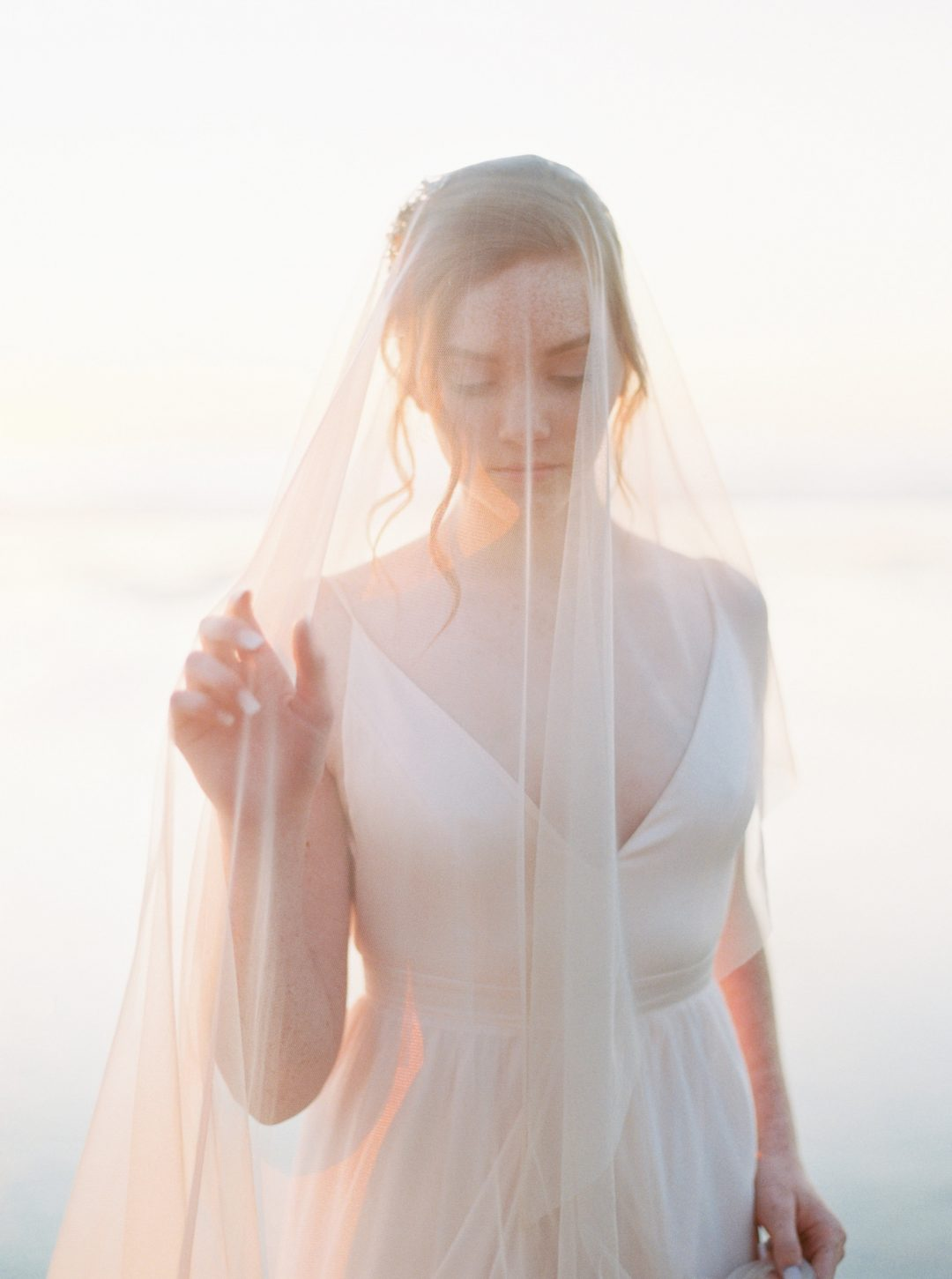 """SIBO Designs 2018 Collection - """"Style 716"""" Fine Tulle Blusher Bridal Veil www.sibodesigns.com"""