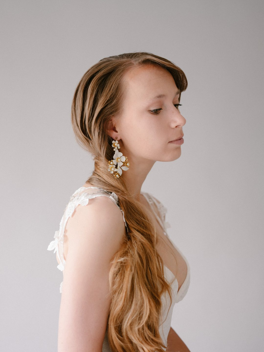 Style 901 - Floral Bridal Earrings - by SIBO Designs Couture www.sibodesigns.com
