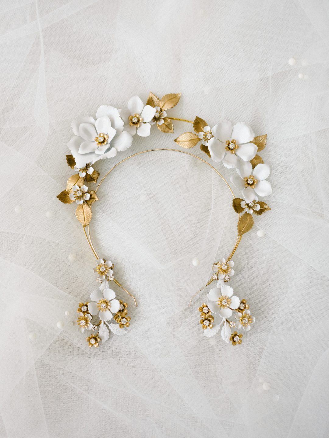Style 903 - Halo Floral Bridal Headband - by SIBO Designs Couture www.sibodesigns.com