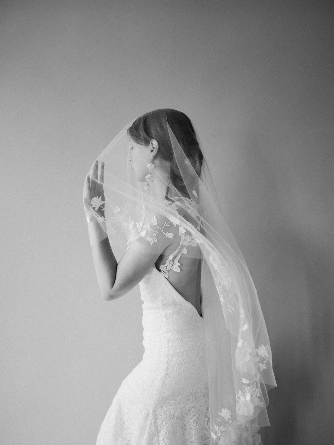 Style 912 - Embroidered Blusher Bridal Veil - by SIBO Designs Couture www.sibodesigns.com